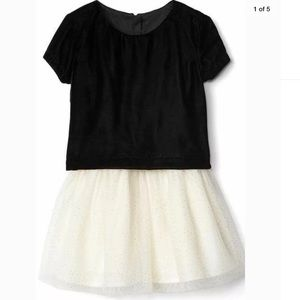 Baby GAP Black Velvet & Ivory Sparkle Tulle Dress